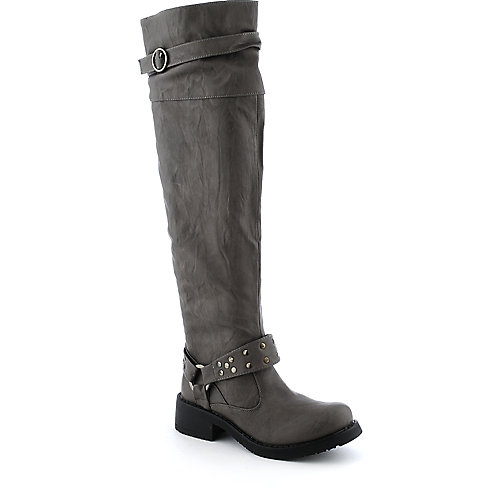 Bamboo Kapas-27 womens low heel western/riding knee-high boot