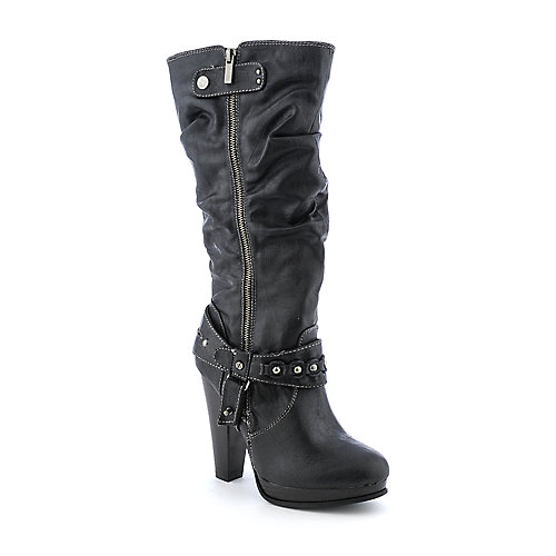 Bamboo Magnet-09 womens knee high platform high heel western/riding boot