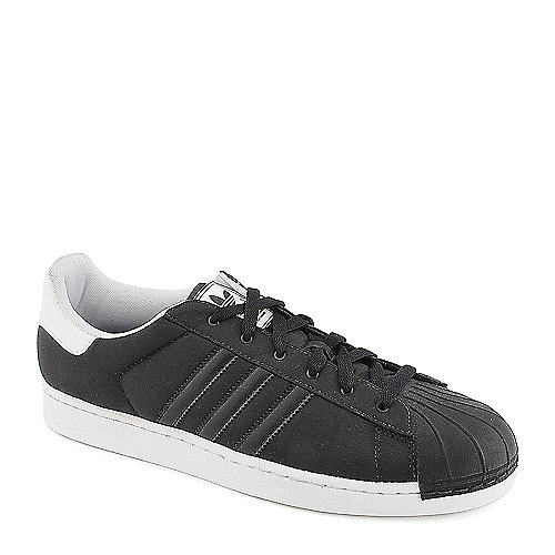 Adidas Superstar 2 black and white athletic basketball sneaker