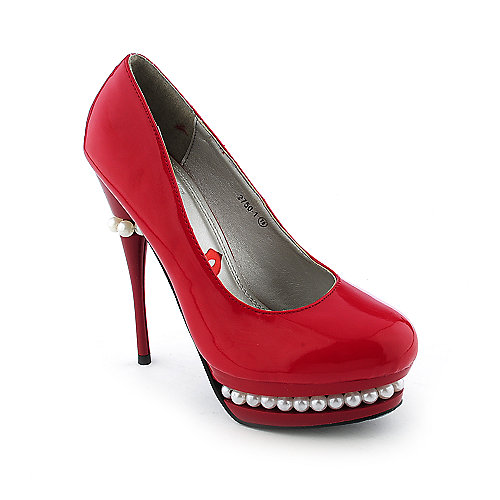 Red Kiss Pearl-AO Womens dress high heel platform pump