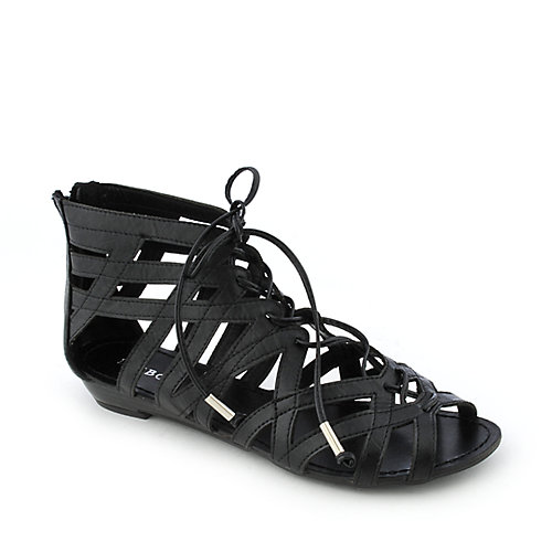 Bamboo Poppy-15 womens gladiator strappy sandal