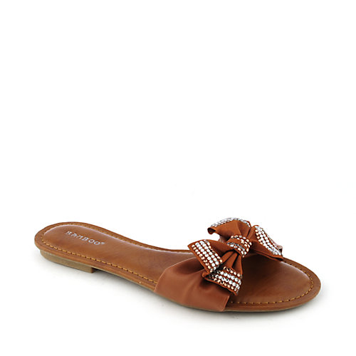 Bamboo Cosy-03 womens jeweled flat sandal