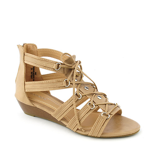 Bamboo Lovela-01 womens wedge strappy sandal