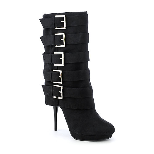 Michael Antonio Masado womens high heel platform mid-calf boot