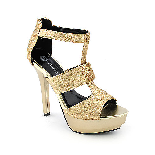 Michael Antonio Ratio womens dress evening glitter high heel platform