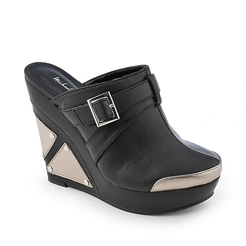 Michael Antonio Graphic womens casual platform slip-on wedge