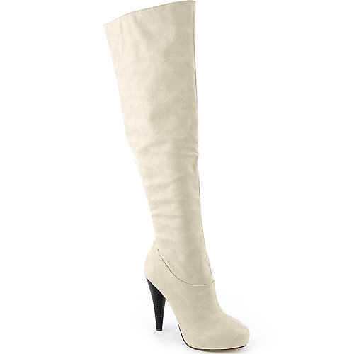 Michael Antonio Halpern womens knee-high high heel platform boot
