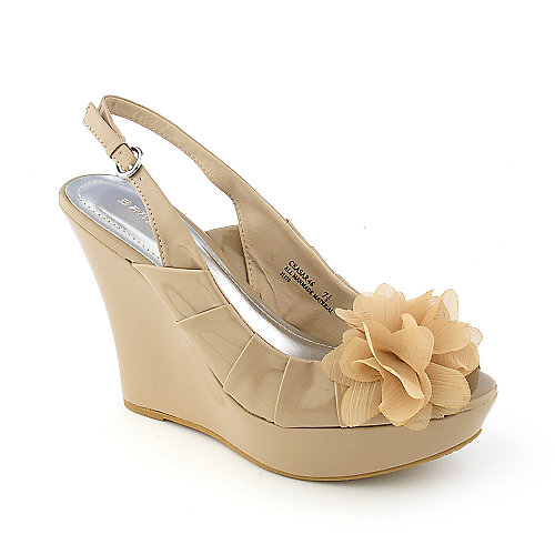 Bamboo Ceasar-46 womens dress slingback platform wedge