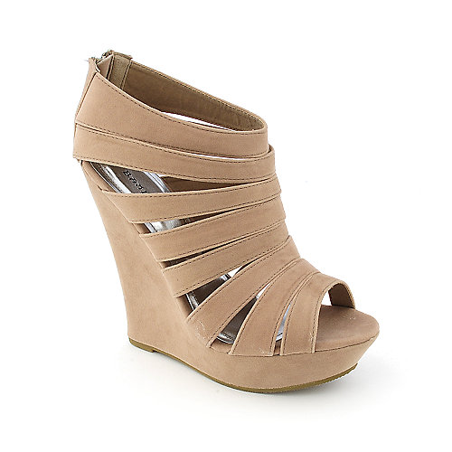 Bamboo Driven-56 womens dress platform wedge