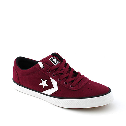 Converse Mens Wells Ox burgundy casual sneaker