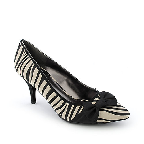 Bamboo Carpi-01 womens dress animal print low heel