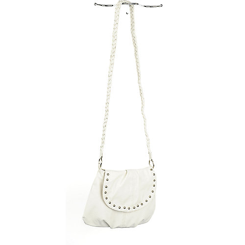 Shiekh Ivory Studded Shoulder Bag white handbag