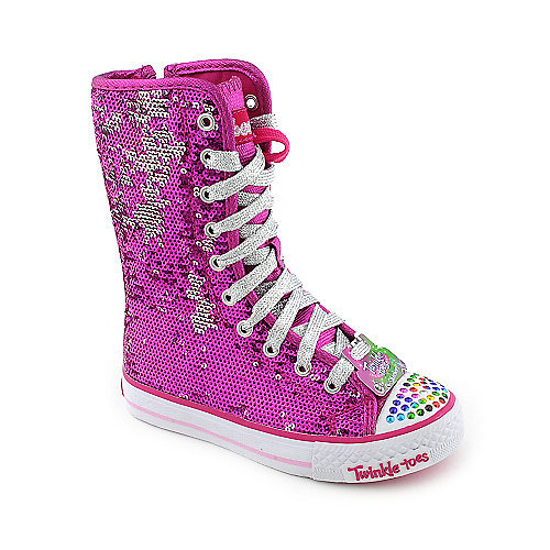 Skechers Twinkle Toes Shuffles-Bizzy Bunch youth sneaker