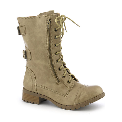 Womens Combat Boots Soda Dome-H