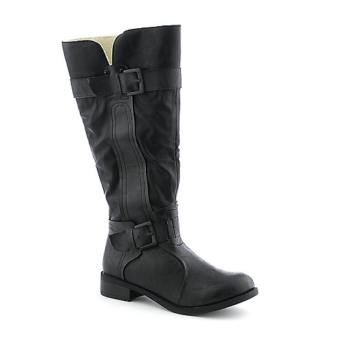 Shiekh B-XLO106 womens low heel knee high riding boot