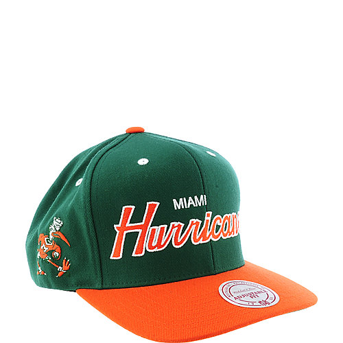 Mitchell   Ness Miami Hurricanes Cap snap back hat ada76a3c5ed