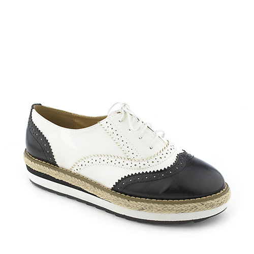 Cherish Oxy-1-S womens casual espadrille lace-up platform oxford shoe
