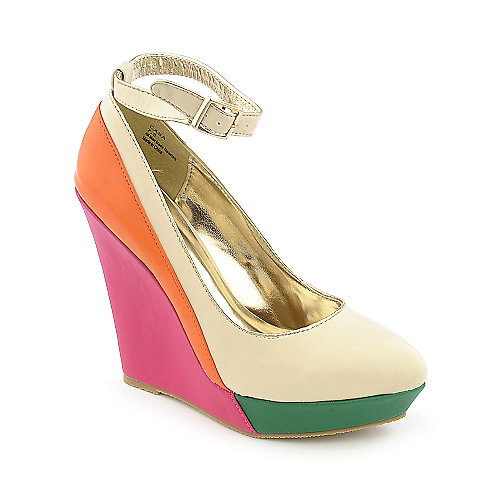 Shiekh Casa womens dress color block platform wedge