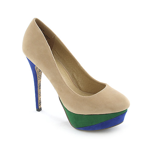 Shiekh Kylie womens dress color block platform high heel