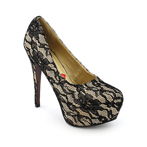 Red Kiss Lace-AO womens dress platform high heel