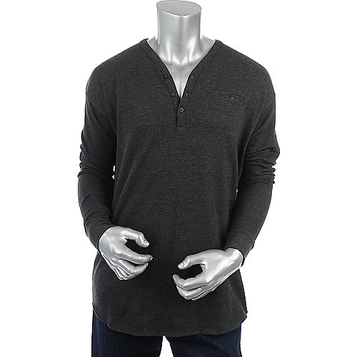 Jordan Craig Henley Thermal Shirt mens long sleeve shirt