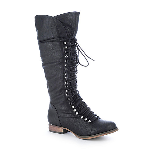 Breckelle's Georgia-25 womens low heel mid-calf boot