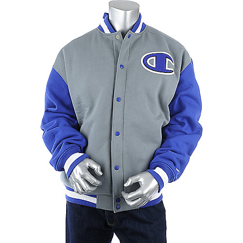 Grey Champion Super Letterman Jacket mens jacket