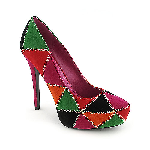 Shiekh 016 womens dress color block high heel platform pump