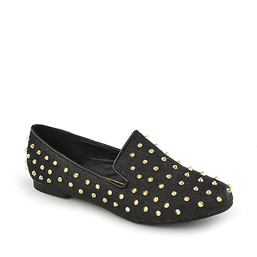 Shiekh Shiekh Spiked Flat womens casual glitter slip-on flat