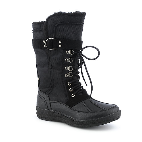 Shiekh Bre-01A womens flat fur mid-calf boot