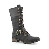 Womens Bethel Buckle Mid Lace Boot