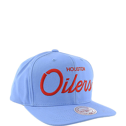 8b586411aea13 Mitchell and Ness Houston Oilers Cap snapback hat