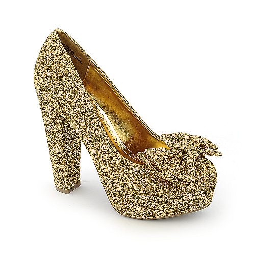 Shiekh Luscious-23 womens dress glitter high heel platform