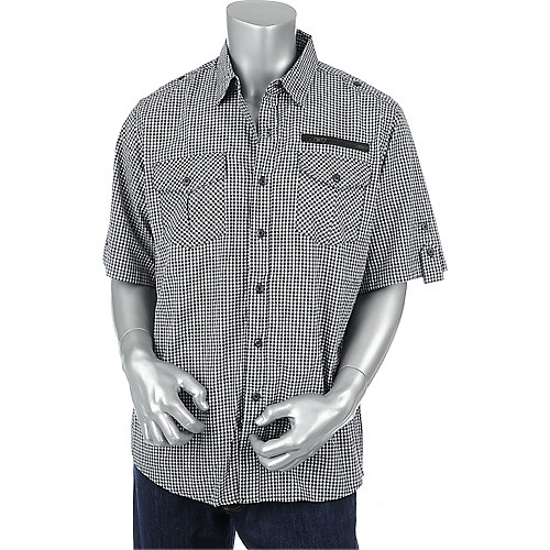 Galaxy By Harvic Military Plaid mens shirt