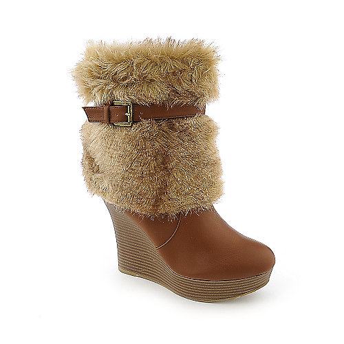 Bamboo Ceasar-29 womens fur boot
