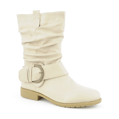 Bamboo Montage-21L womens low heel mid-calf boot