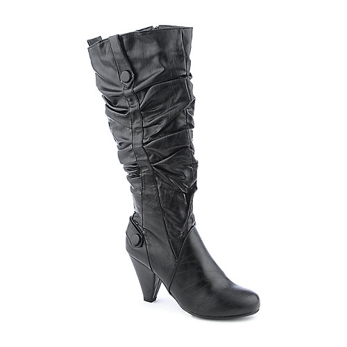 Bamboo Verde-11D womens high heel mid-calf boot