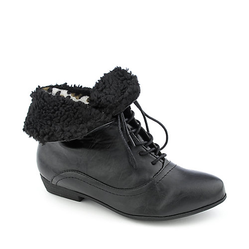 Dollhouse Ernie womens fur trim boot
