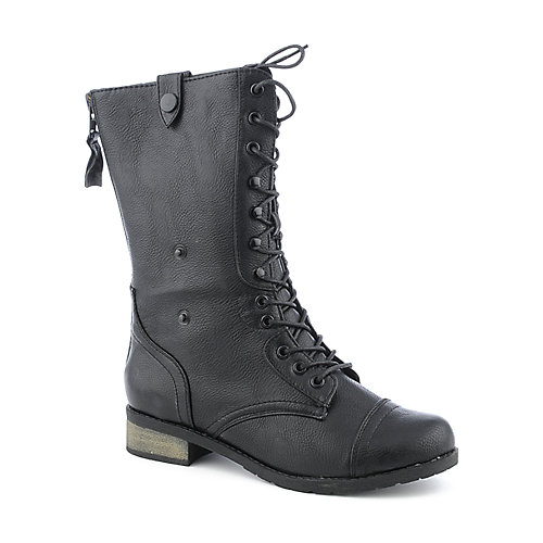 Bamboo Croft-02 womens low heel mid-calf boot