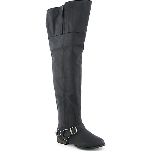 Yoki Wind womens low heel thigh-high riding boot