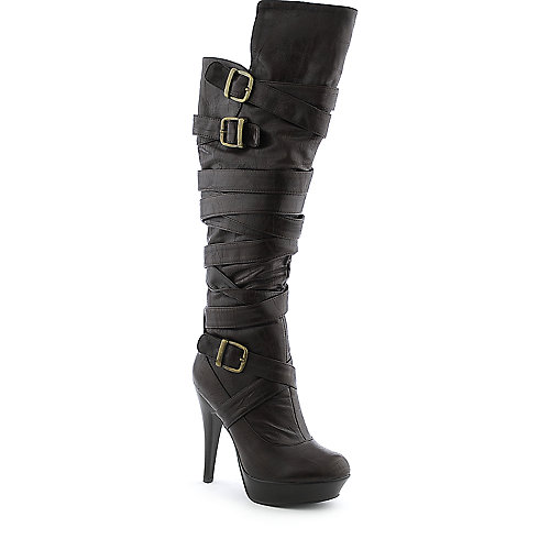 Cleopatra Steven womens high heel platform knee-high boot