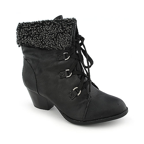 Refresh Lola-02 womens low heel fur ankle boot