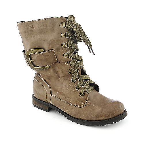 Yoki Marina womens low heel mid-calf boot