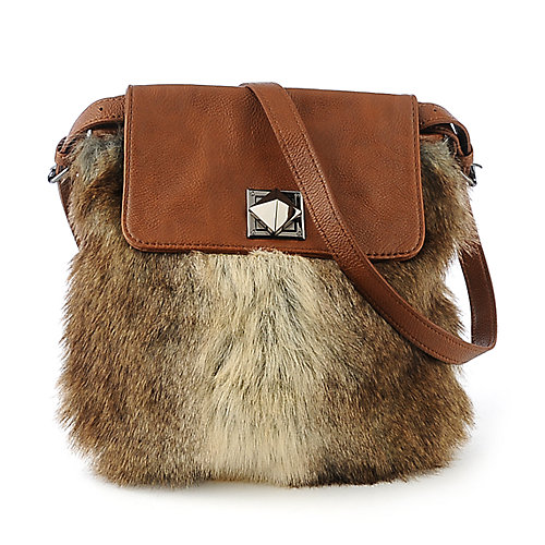 Nila Anthony Rabbit Fur Bag shoulder handbag