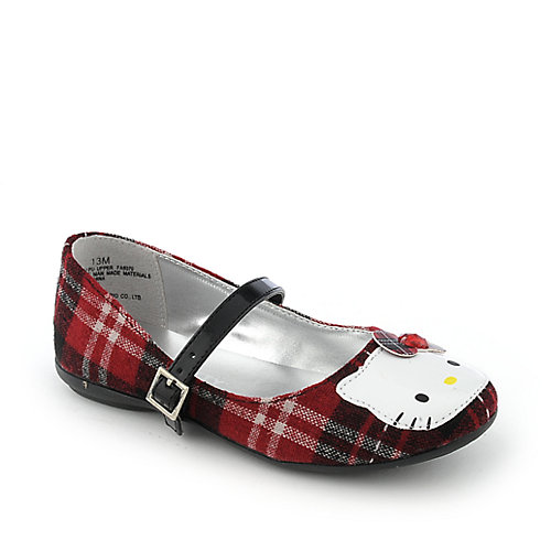 Hello Kitty Plaid Kitty youth Mary Jane flat
