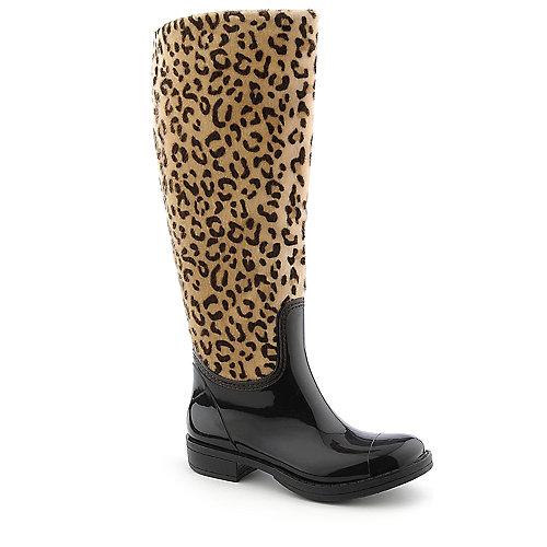 0c539b76f184 Bamboo Womens Storm-02 leopard rain boot