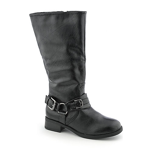 Bamboo Yoda-13 womens low heel mid-calf western/riding boot