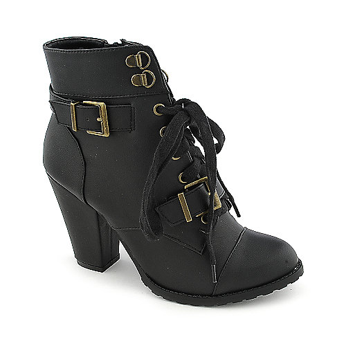 Soda Skool-H womens ankle high heel boot