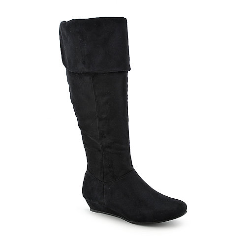 Wild Diva Iona-11 womens wedge knee-high boot