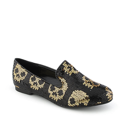 Shiekh Flat womens casual sequin slip-on flat